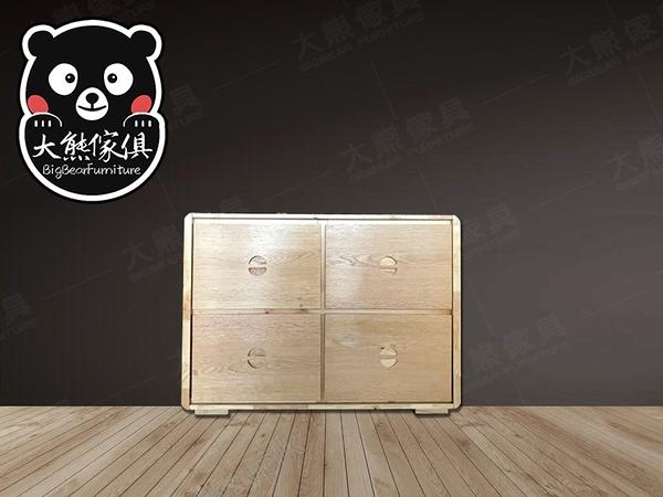 【大熊傢俱】A20 實木斗櫃 收納櫃 儲物櫃 抽屜櫃 玄關櫃 餐邊櫃 電視櫃 置物櫃 實木傢俱