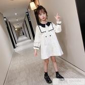 洋裝 女童秋裝連身裙2020新款韓版時尚兒童秋季長裙娃娃領長袖公主裙潮 雙12購物節
