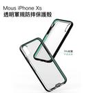 Mous iPhone X/Xs 5.8吋 透明 Clarity 軍規 防摔 保護殼 手機殼