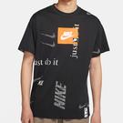 Nike Sportswear 男裝 短袖 純棉 寬版 休閒 標誌 圖案 黑【運動世界】CW0378-010