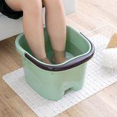 加厚泡腳足浴盆按摩泡腳桶家用塑料泡腳盆洗腳盆加高洗腳足浴桶 LannaS igo