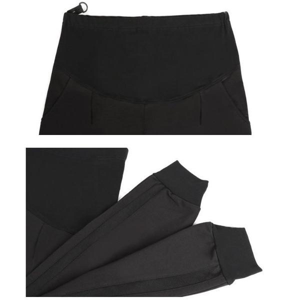漂亮小媽咪 孕婦長褲 【P1270】 運動褲 條紋 束口褲 休閒褲 哈倫褲 托腹褲 縮口褲 孕婦褲 M-XXL