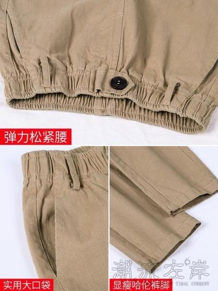 休閒褲女褲寬鬆秋冬季新款工裝高腰直筒顯瘦老爹褲子