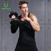 健身衣男背心緊身吸汗透氣健身服訓練速乾衣跑步無袖t恤運動上衣