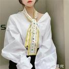 夏天絲巾 超薄百搭圍脖春季脖套小絲巾網紅爆款護多功能配飾  一米陽光