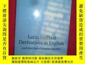 二手書博民逛書店Latin罕見Suffixal Derivatives in E