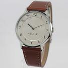 【萬年鐘錶】agnes b. 法式簡約時尚風 腕錶 銀x白  39mm  VJ20-K240J(BJ5006X1)