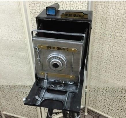 [協貿國際]   老式三腳架照相機擺件咖啡廳落地擺件  (1入)