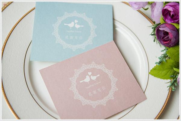 幸福朵朵*感謝有你.手寫小謝卡(藍或粉)-送禮別忘了附上一張親筆手寫的祝福卡片喔~好貼心!