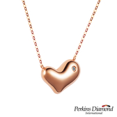 PERKINS 伯金仕 My Heart系列 18K玫瑰金鑽石項鍊