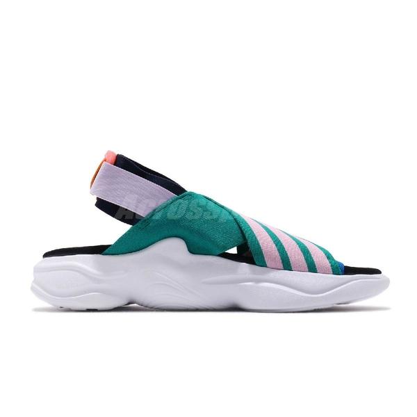 adidas 涼鞋 Magmur Sandal W 綠 粉紅 女鞋 魔鬼氈 涼拖鞋 彈性綁帶【ACS】 EF5864