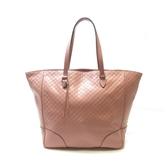 GUCCI 古馳 粉色牛皮肩背包Bree Tote Handbag Micro Guccissima【二手名牌BRAND OFF】