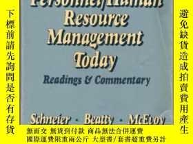 二手書博民逛書店Personnel human罕見Resource Management Today: Readings And