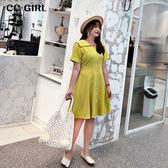 中大尺碼 甜美水手服洋裝~共兩色 - 適XL~4L《 68273 》CC-GIRL