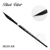 『ART小舖』Silver Brush美國黑天鵝絲絨 Black Velvet松鼠混合毛 劍峰筆 3012S 3/8號 單支