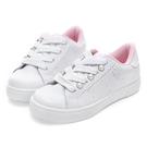 Disney 愛美甜心 側邊珍珠綁帶休閒鞋-白粉(DW3118)