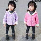 女童秋季外套寶寶兒童春秋新款韓版連帽加絨3周歲嬰幼兒女孩風衣 CY潮流站