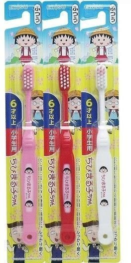 日本品牌【EBISU】櫻桃小丸子兒童牙刷-顏色隨機出貨