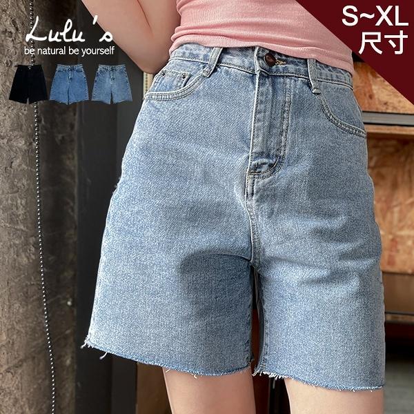 LULUS特價【A04210059】Y類韓組不修邊五分寬褲S-XL3色