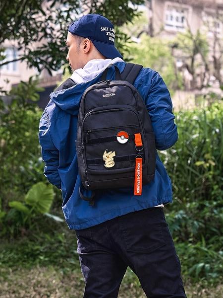 【OUTDOOR】Pokemon聯名款訓練家系列 14吋筆電後背包-中-黑色 ODGO20C02BK