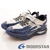 【MOONSTAR】日本月星頂級競速童鞋 2E超加速反光款 SSJ7861銀(中大童段)-M