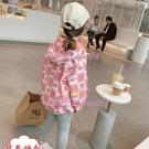 女童春秋外套兒童兩面穿卡通沖鋒衣女寶寶洋氣夾克上衣潮【聚可愛】