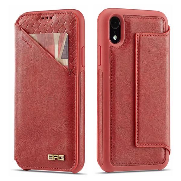 蘋果 iPhone XS MAX XR iPhoneX i8 Plus i7 Plus 超薄磁吸款 手機殼 掀蓋殼 插卡 支架 防摔 保護套