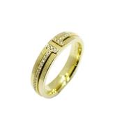 Tiffany & Co 蒂芬妮 Tiffany T 系列 18K金窄版鑽石戒指 【二手名牌 BRAND OFF】