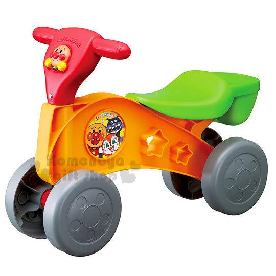 〔小禮堂〕麵包超人 越野車玩具《橘本體.綠座.紅把手.橘盒裝》適合1.5個月至5歲兒童 4971404-31393