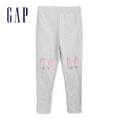 Gap女幼動物造型鬆緊腰針織褲539656-可愛粉兔圖案