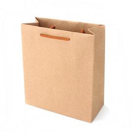 {無印牛皮紙袋}一體瑞士捲盒提袋 素面紙盒/原色/文創禮品 (50個/組)
