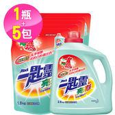 【一匙靈】亮彩超濃縮洗衣精 1+5組合(2.4kgx1+1.5kgx5)-箱購