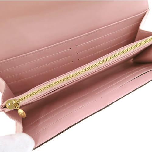 Louis Vuitton LV M61227 Sarah Vernis皮革壓花發財包扣式長夾.粉紅 全新 預購【茱麗葉精品】