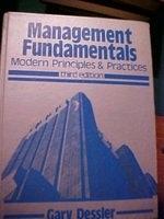 二手書博民逛書店 《Management fundamentals : modern principles & practices》 R2Y ISBN:0835942155│GaryDessler