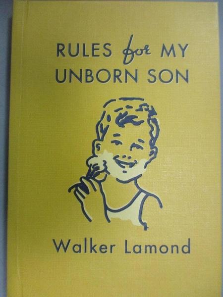 【書寶二手書T2/原文書_NSO】Rules for My Unborn Son: Let's Get Some Thi
