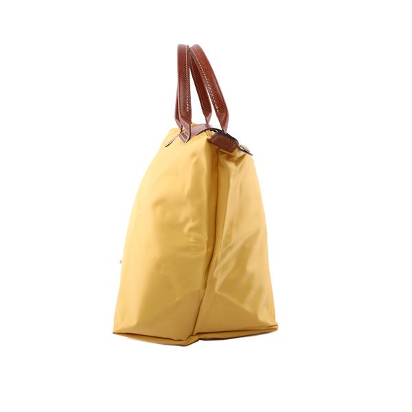 【LONGCHAMP】M號短把 摺疊水餃包 3D系列(香蕉黃)1623089C91