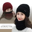 《Caroline》韓版秋冬套頭帽貼布加...