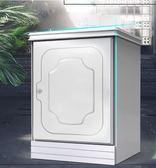 保險櫃 歐奈斯保險櫃家用指紋密碼55cm保險箱隱形小型入墻木制床頭櫃高床邊 衣間LX