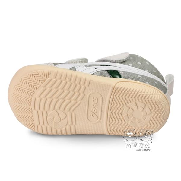 ASICS 亞瑟士 FABRE FIRST CT3 灰綠色 點點 高筒 魔鬼氈 小童鞋 NO.R3743