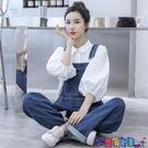 吊帶褲 牛仔背帶褲女小個子2021春季新款韓版寬鬆時尚洋氣減齡新品