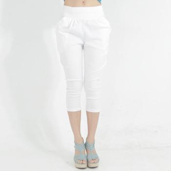 ○台灣製○ 俐落百搭哈倫褲飛鼠7分褲(209)(白M) 獨具衣格