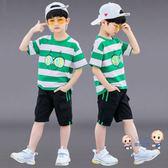 男童套裝 男童夏裝套裝2019新款兒童洋氣中大童帥氣兩件套夏款童裝男孩潮衣 2色