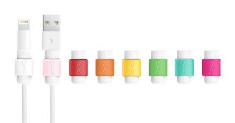 正品 好評熱銷 8色可選 i線套Apple傳輸線救星 適用 iPhone iPad iPod 1入裝