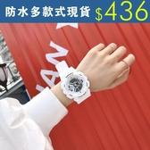 電子手錶女學生正韓簡約潮流腕錶 ulzzang夜光防水休閒潮男運動大表盤