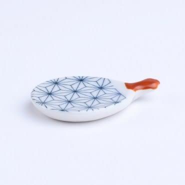 日本扇形筷架 麻葉