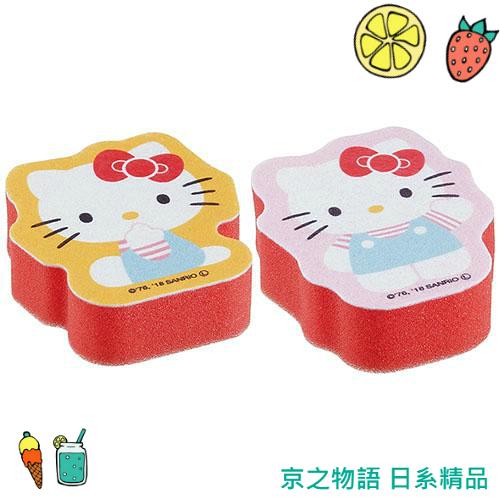 【京之物語】日本迪士尼HELLOKITTY凱蒂貓造型菜瓜布 海綿 清潔 廚房用具(現貨)