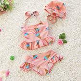全館88折 兒童泳衣1女孩2女童泳裝3歲4女寶寶小童溫泉嬰幼兒比基尼公主 百搭潮品