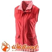 【Wildland 荒野 女防風時尚保暖背心 橘紅】22703/保暖背心