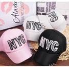 預購-亮片貼布NYC鐵環邊棒球帽