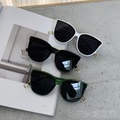 新款ins風眼鏡女韓版網紅太陽鏡復古百搭沙灘出游個性墨鏡女 簡而美
